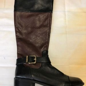 Vince Camuto Women's Black and Brown Leather Boots